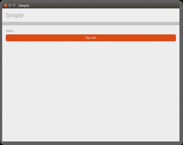 Sample QML App