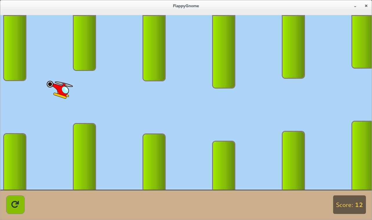 Flappy Gnome via (https://github.com/evfool/flappy-gnome-tutorial/blob/master/screenshot.png)